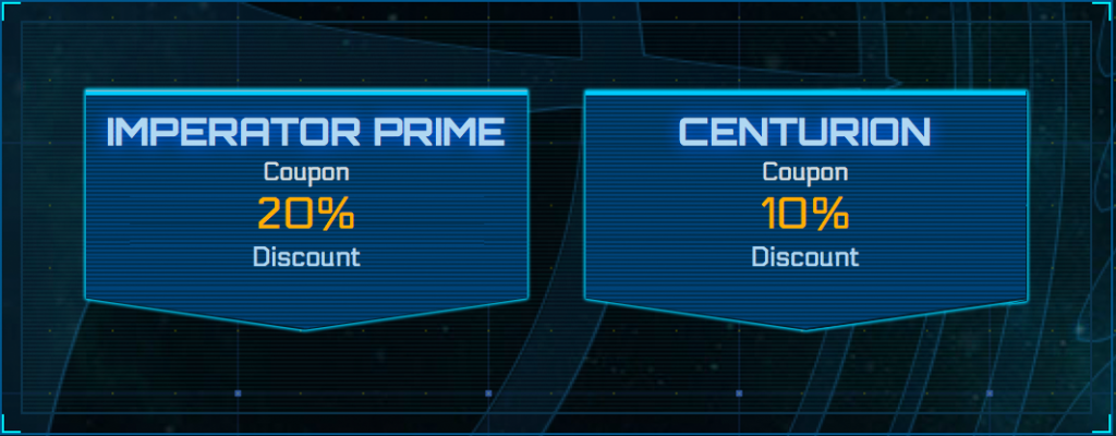 Star citizen coupon codes, imperator prime and centurion